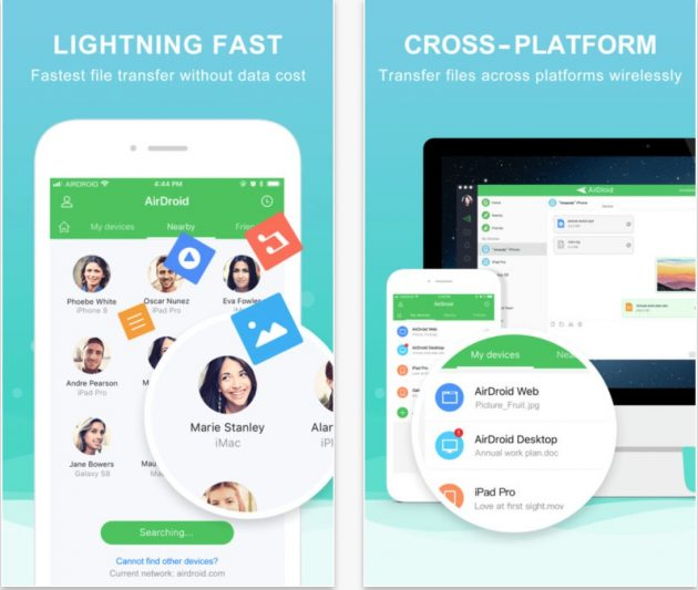 AirDroid, l'app per scambiare file tra iPhone, PC/Mac e Android