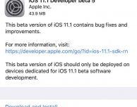 Apple rilascia iOS 11.1 Beta 5 per gli sviluppatori