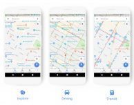 Nuova interfaccia grafica per Google Maps