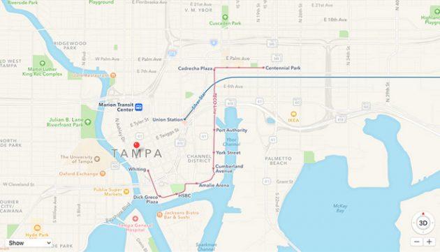 "Makuz News 23890-30706-171205-Tampa-l-630x361 Apple Maps aggiunge le info sui trasporti pubblici a Tampa in Florida apple apple maps florida info mappe. News Senza categoria tampa Trasporti pubblici ""usa  telodogratis notizie makuz loxc facebook blog"