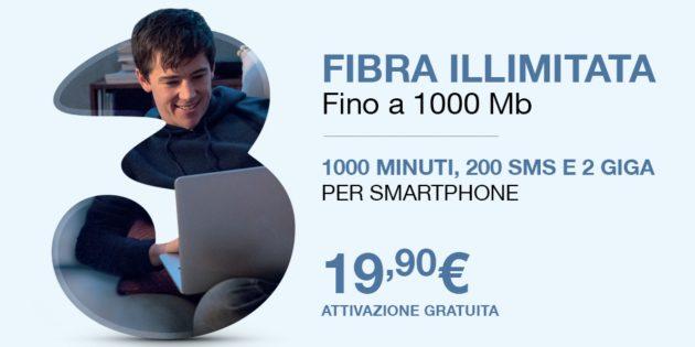 3Fiber, ADSL a 17,90 euro + Fibra a 19,90 euro - iPhone Italia