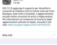 Apple rilascia iOS 11.2.5 per tutti!