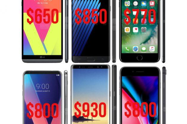 18fdbcc2d39e ... X di Apple o il Galaxy Note 8 di Samsung. In generale, l'anno appena  trascorso ha fatto registrare il più alto aumento di prezzi rispetto al  passato.