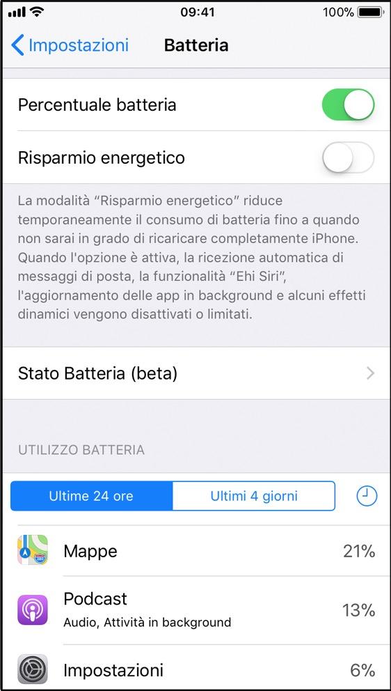 controllare vita iphone