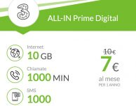 Ancora attive le offerte ALL-IN Prime Digital e ALL-IN Master Digital di Tre