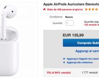 Super offerta su eBay: Apple AirPods a 135,99€!