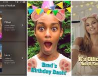 Snapchat introduce lens e filtri personalizzati