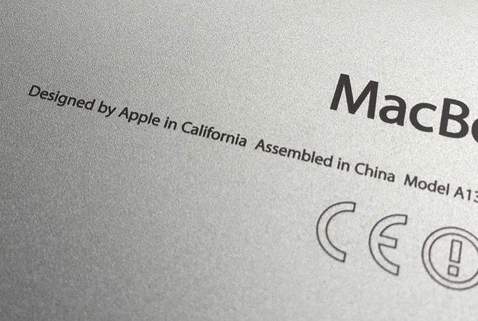 "Il ""Designed in California. Assembled in China"" potrebbe ..."