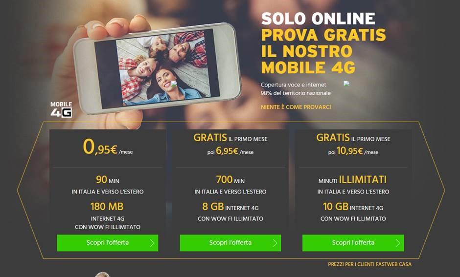 Fastweb mobile ecco tutte le offerte in 4g iphone italia for Offerte mobile