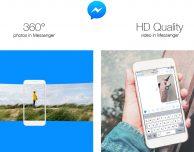 Facebook Messenger compatibile con foto a 360 gradi e video HD