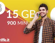 TRE Play 9 Digital: 900 minuti e 15 GB a 9€ al mese