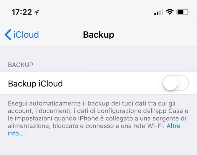 Cosa salva il backup dell iPhone su iTunes e i Cloud  - iPhone Italia 56d9211cfd1