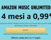 Amazon Music Unlimited: 4 mesi a 0,99€ per gli utenti Prime!