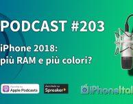 iPhone 2018: più RAM e più colori? – iPhoneItalia Podcast #203