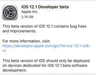 Apple rilascia iOS 12.1, watchOS 5.1 e tvOS 12.1 beta 1 [UPDATE: tornano le FaceTime di gruppo]