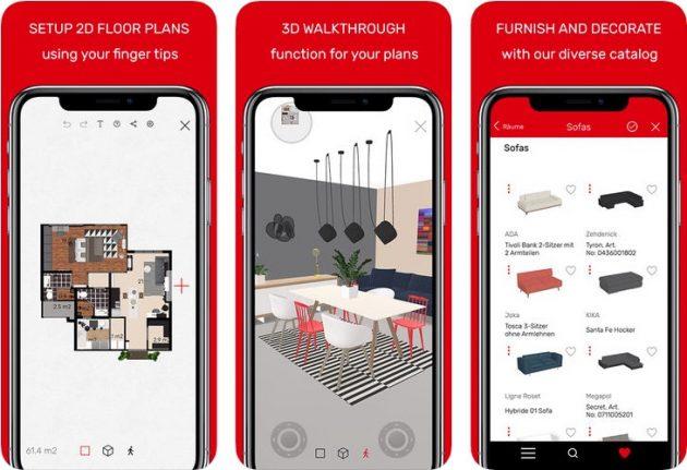 Roomle 3d ar floorplanner progettare gli spazi for App per progettare