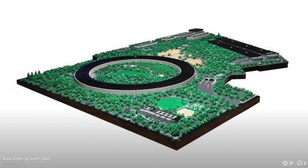 Apple park ecco la sua versione lego iphone italia - Pezzi di design ...