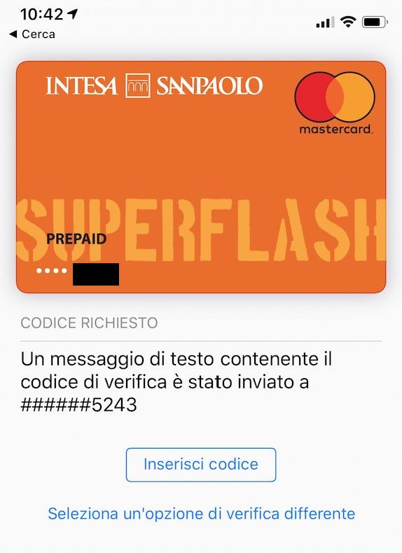Come configurare Apple Pay su carta Intesa Sanpaolo - iPhone