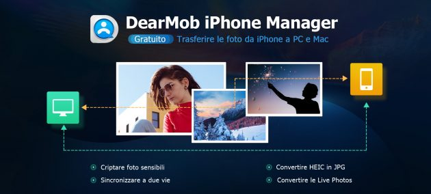 come trasferire foto da iphone apple a pc
