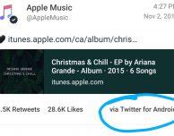 Anche Apple ci casca: messaggio promozionale inviato da un dispositivo Android