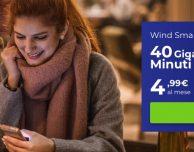 Wind All Inclusive Fire a partire da 4,99€ con minuti illimitati e 40 GB