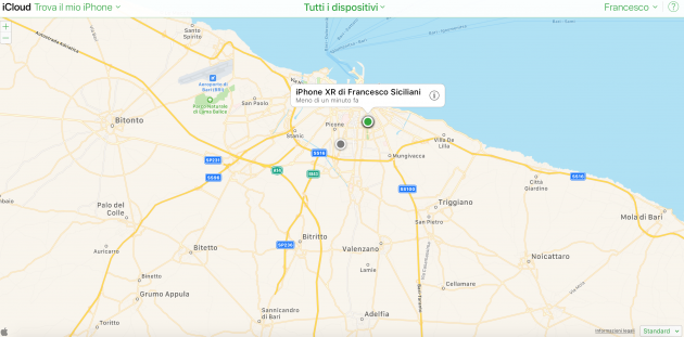 Localizzare iPhone - Trova mio iPhone