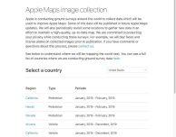 Apple aggiorna l'elenco delle zone che saranno mappate con veicoli LiDAR
