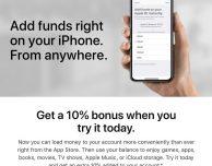 Apple offre un bonus del 10% per chi aggiunge fondi su App Store in alcuni paesi
