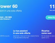 Attiva 3 Play Power 60: minuti illimitati, 200 SMS, 60 Giga e 6 mesi di Apple Music