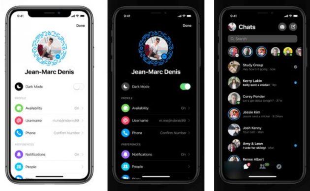 Dark Mode Ora Disponibile Su Facebook Messenger Iphone Italia