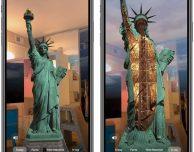Tim Cook promuove la nuova app Statue of Liberty in AR
