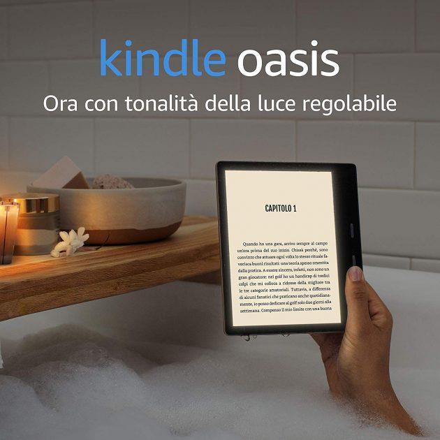d9abed11b2dd35 Il nuovo Amazon Kindle Oasis monta uno schermo da 7 pollici a 300 ppi, con  tecnologia Paperwhite e design a filo. La grande novità è data dalla  possibilità ...