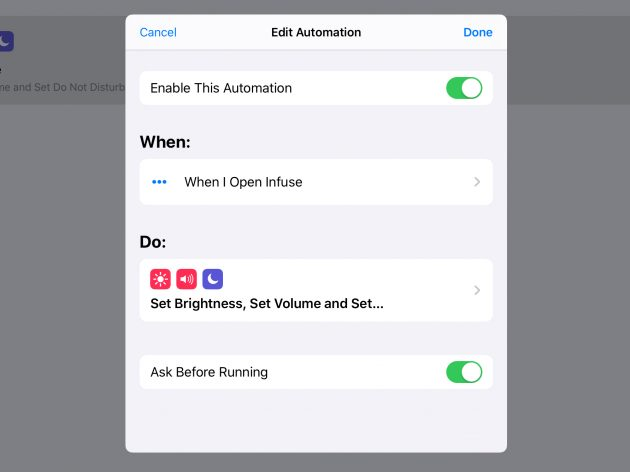 Shortcuts su iOS 13