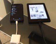 Il supporto ai drive esterni su iOS 13 funziona anche con un Kindle