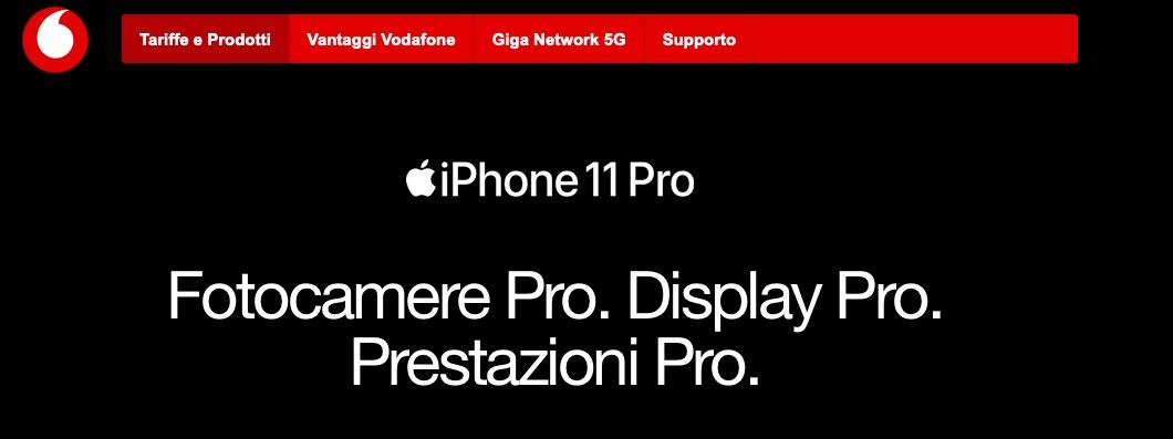 Le Offerte Di Vodafone Per Acquistare Iphone 11 Iphone 11 Pro E Iphone 11 Pro Max Iphone Italia