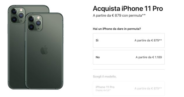 Dettaglio Prezzi iPhone 11