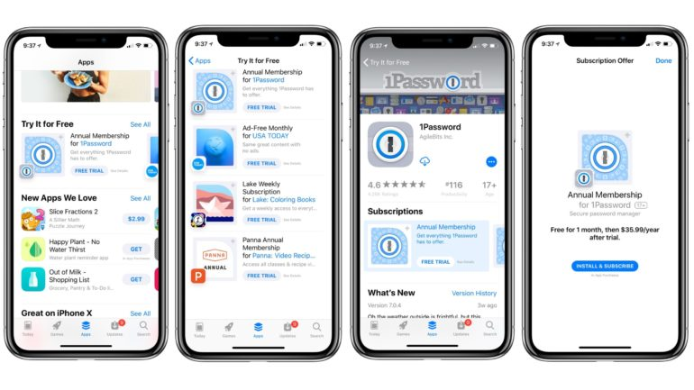 App Store Abbonamenti
