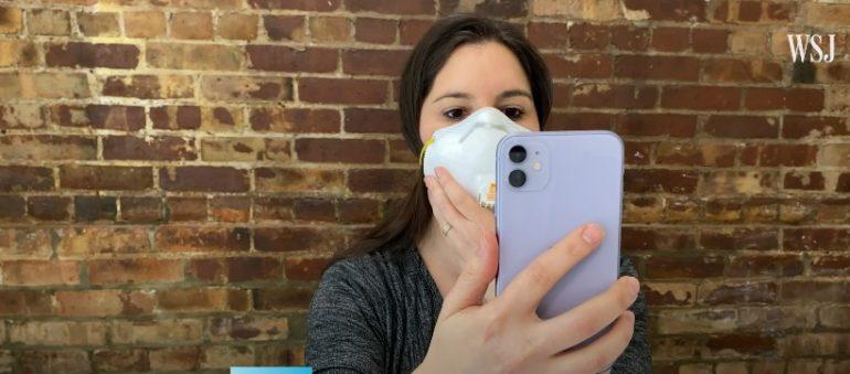 mascherina iphone face id