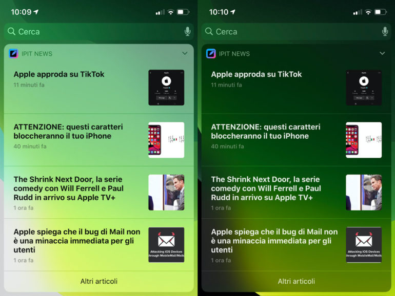 widget news iphoneitalia app