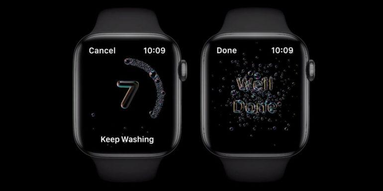 handsashing apple watch