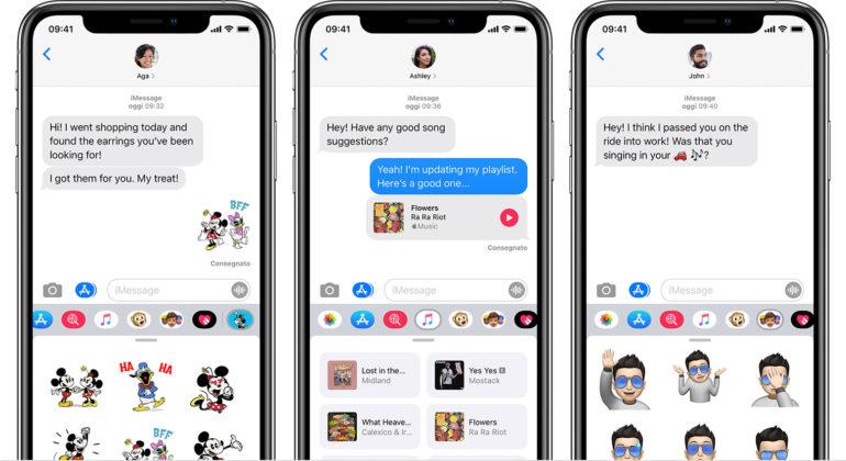 iOS 14 Messaggi