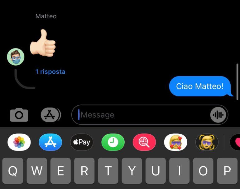 Messaggi iOS 14 risposte