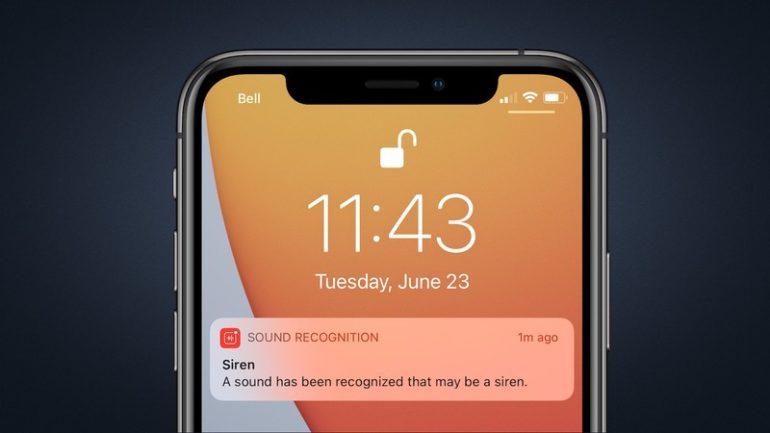riconoscimento suono ios 14