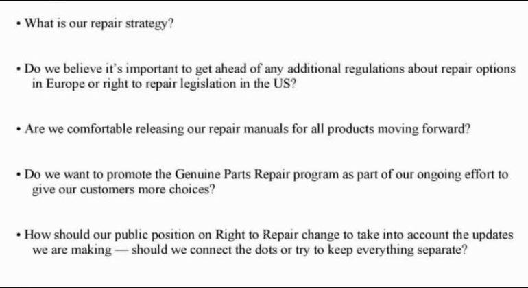 diritto alla riparazione