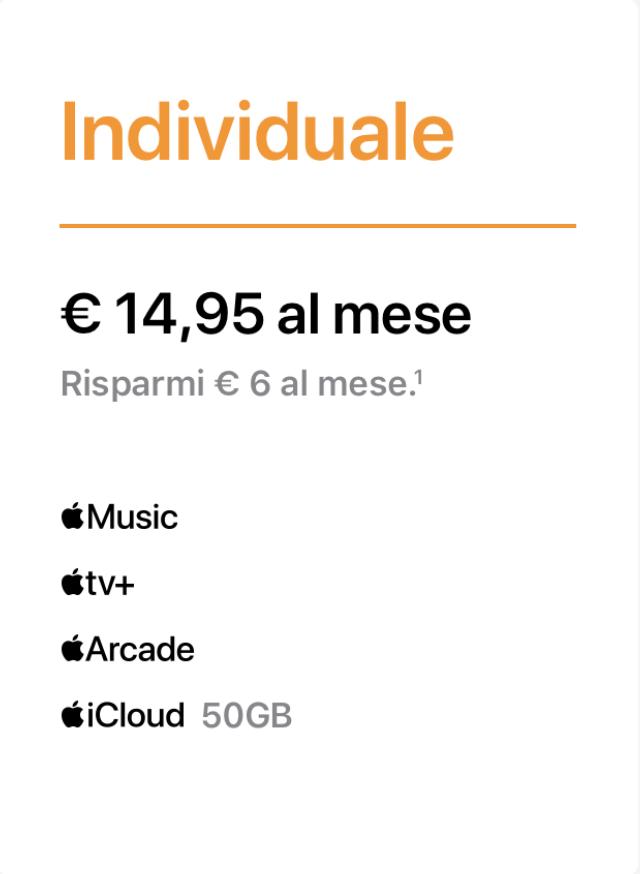 apple one individuale