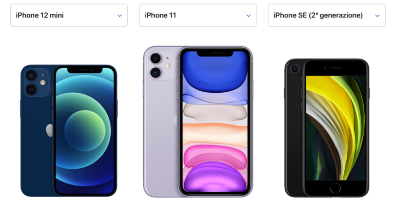 Differenze Tra Iphone 12 Mini Iphone 11 E Se 2020 Iphone Italia