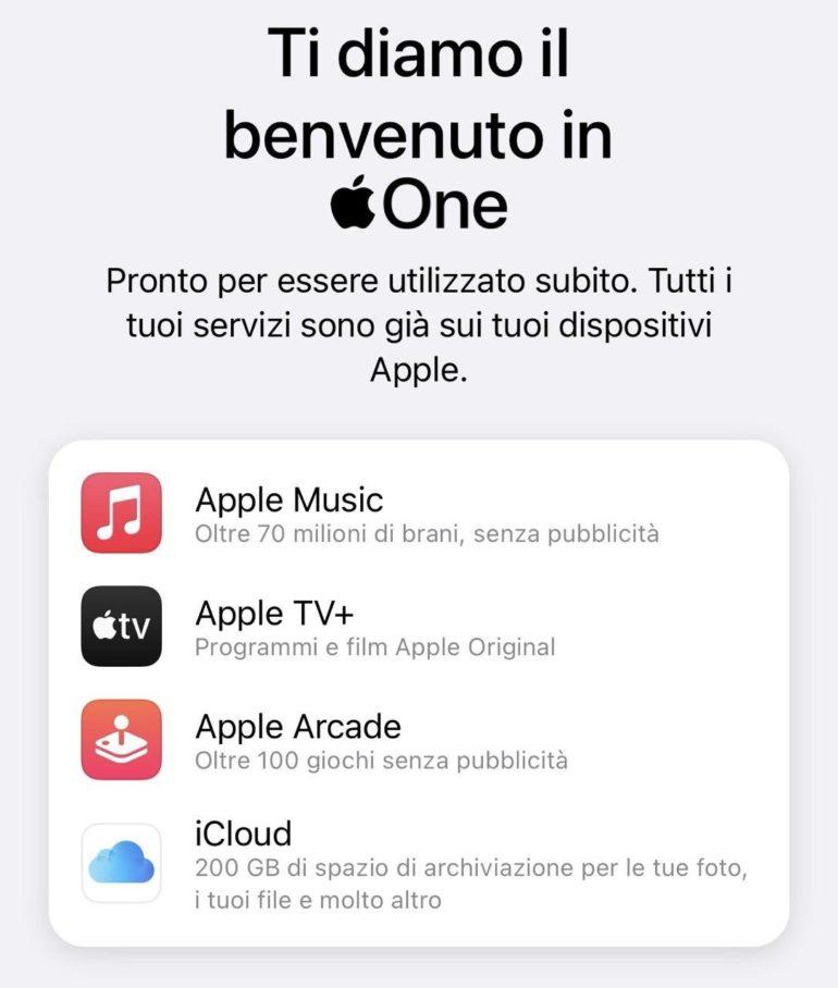 apple one attivato