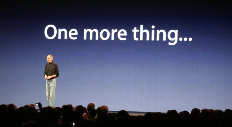One more thing apple swatch