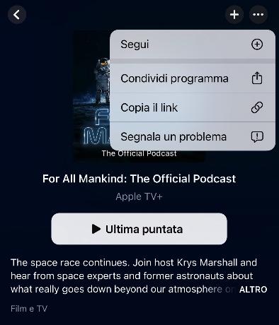 apple podcast segui