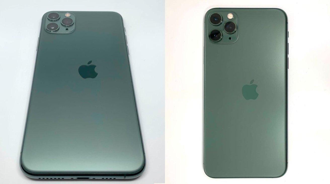 Un iPhone 11 Pro con logo Apple stampato …